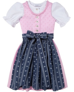 Mädchen-Dirndl mit Bluse und Schürze von LODENFREY