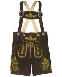 Hochkönig Jungen-Lederhose mit Trägern von LODENFREY