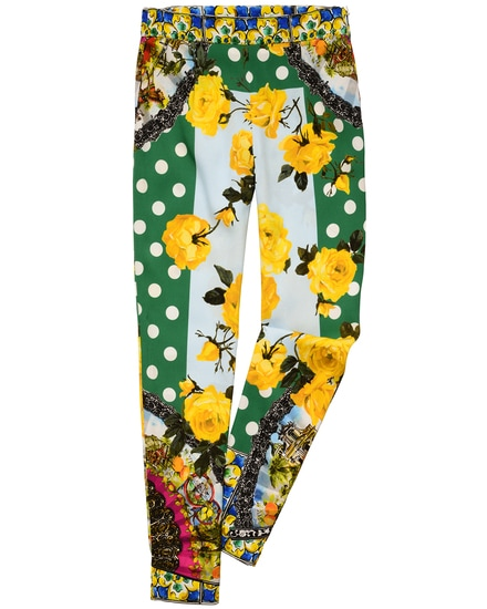 Dolce & Gabbana Mädchen-Seidenhose