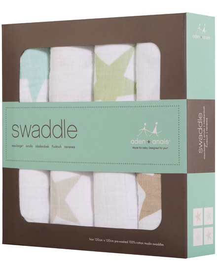 Aden and Anais Swaddle Baby-Pucktücher 4er-Set
