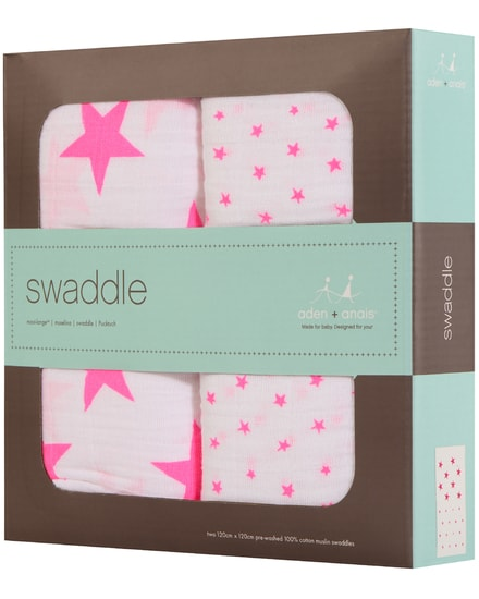 Aden and Anais Swaddle Baby-Pucktücher 2er-Set