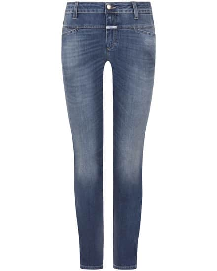 Closed Cropped Worker 7/8-Jeans Girlfriend Fit Mid Waist