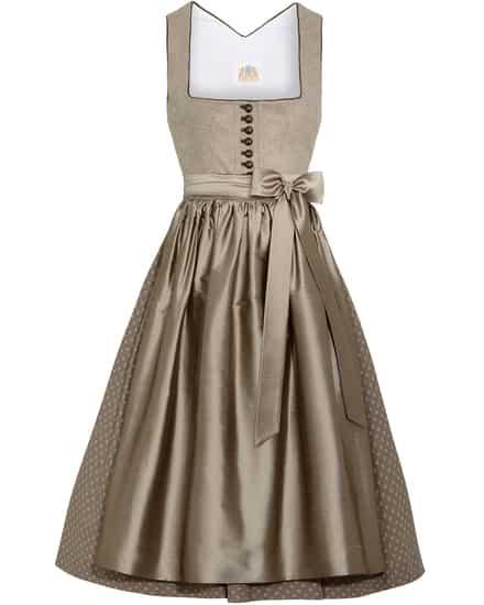 Kleider für Frauen - LODENFREY Dirndl kurz mit Seidenschürze  - Onlineshop Lodenfrey