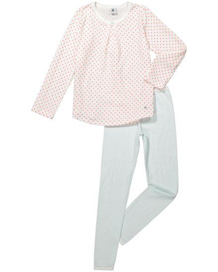 Petit Bateau Mädchen-Schlafanzug