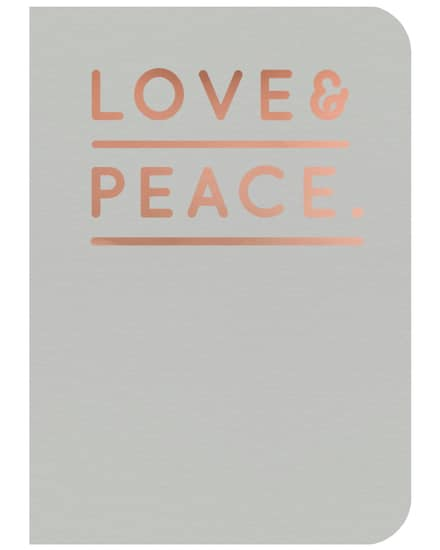 Navucko- Love & Peace Notizheft | Damen