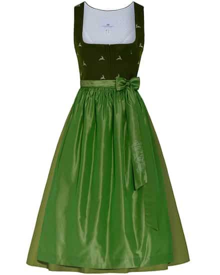 Kleider für Frauen - LODENFREY Wiesndirndl kurz mit Seidenschürze  - Onlineshop Lodenfrey