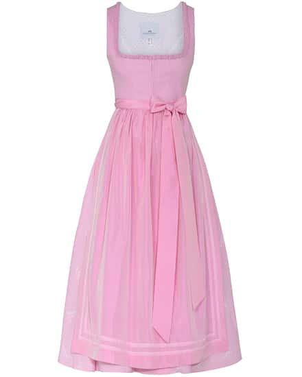 Kleider für Frauen - LODENFREY Wiesndirndl lang mit Seidenschürze  - Onlineshop Lodenfrey