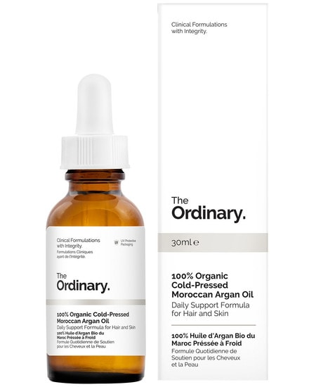 100% Organic Cold-Pressed Moroccan Argan Oil - 30 ml The Ordinary.