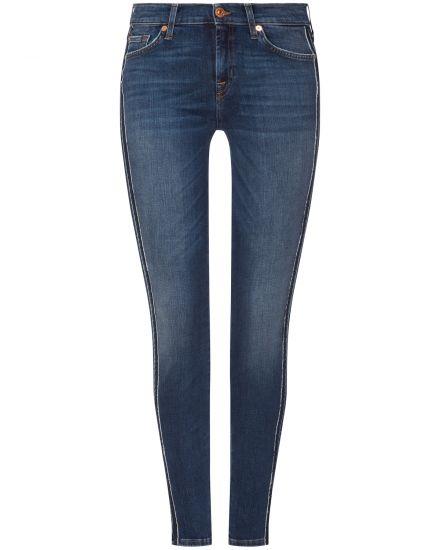 Hosen für Frauen - 7 For All Mankind The Skinny Jeans Mid Rise  - Onlineshop Lodenfrey