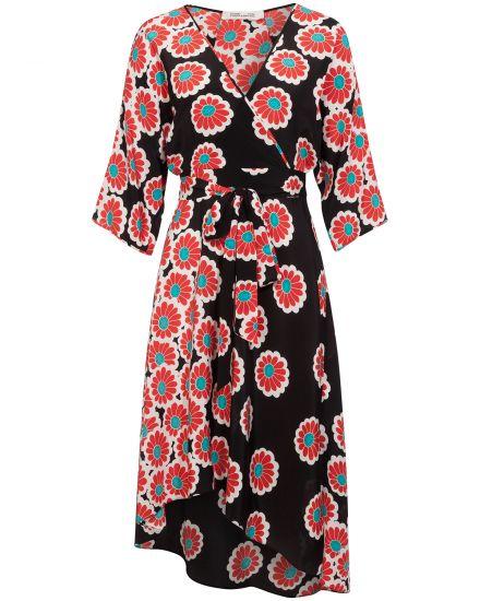 Kimono Blossom Seidenkleid Diane von Furstenberg