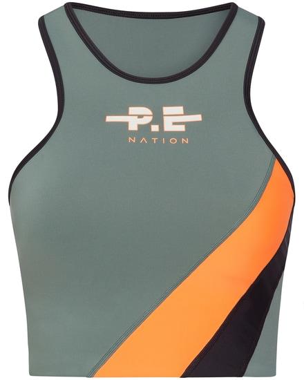 Aspendos Yogatop P.E. Nation | Sportbekleidung > Sporttops > Yogatops | Schwarz - Neon | P.E. Nation