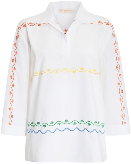 Tory Burch Scalloped Embroidered Bluse  bei LODENFREY München