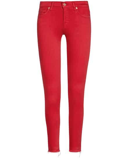 Hosen für Frauen - 7 For All Mankind The Skinny Jeans Crop Unrolled  - Onlineshop Lodenfrey