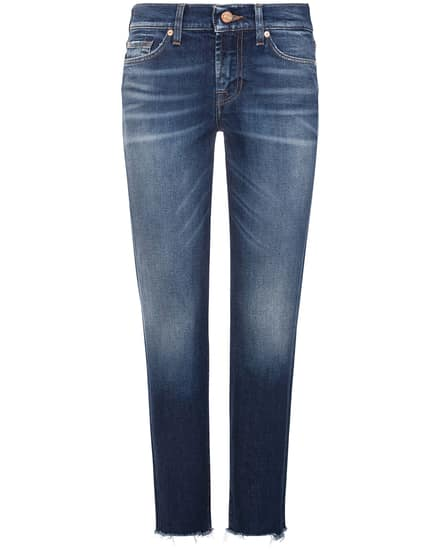 7 For All Mankind Roxanne Jeans Mid Rise Crop Slim Illusion | LODENFREY Munich