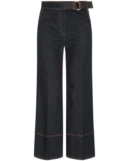 Hosen für Frauen - Tory Burch Wide Leg Jeansculotte  - Onlineshop Lodenfrey