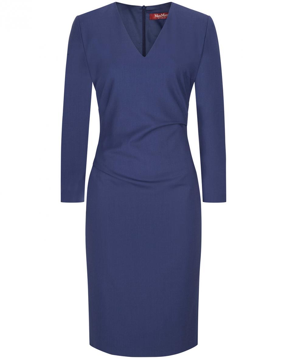 Artikel klicken und genauer betrachten! - Nepal Kleid für Damen von 'S Max Mara in Navy. Die feine Schurwoll-Verarbeitungverspricht angenehmen Tragekomfort und sorgt für eine zeitlose Optik,.... Mehr Details bei Lodenfrey.com!   im Online Shop kaufen