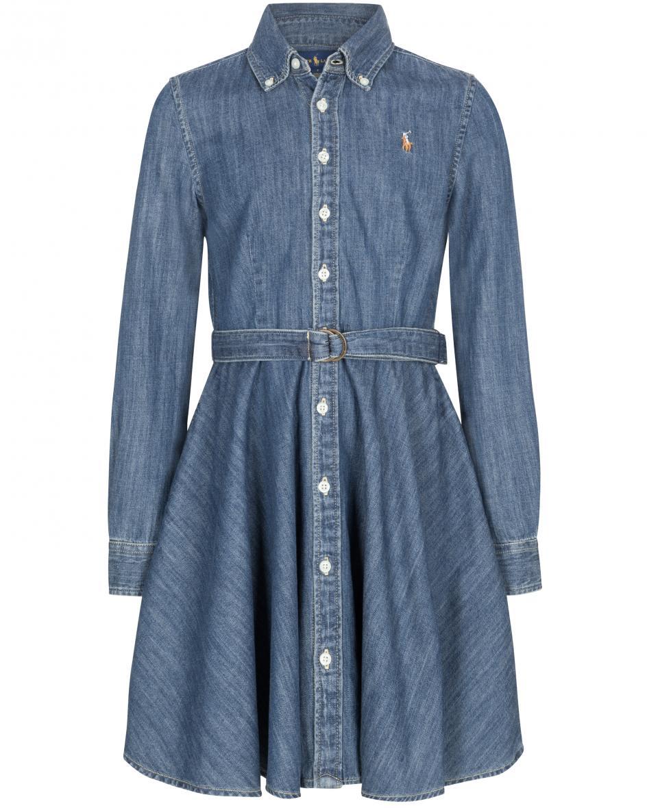 Mädchen-Hemdblusenkleid 116