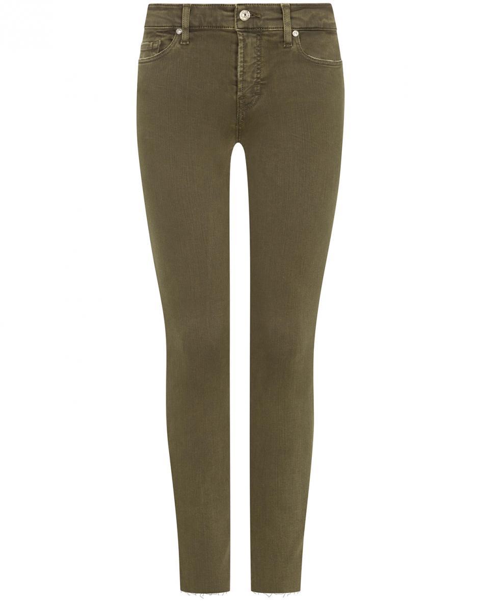 Hosen - 7 For All Mankind The Skinny Jeans Slim Illusion Crop  - Onlineshop Lodenfrey