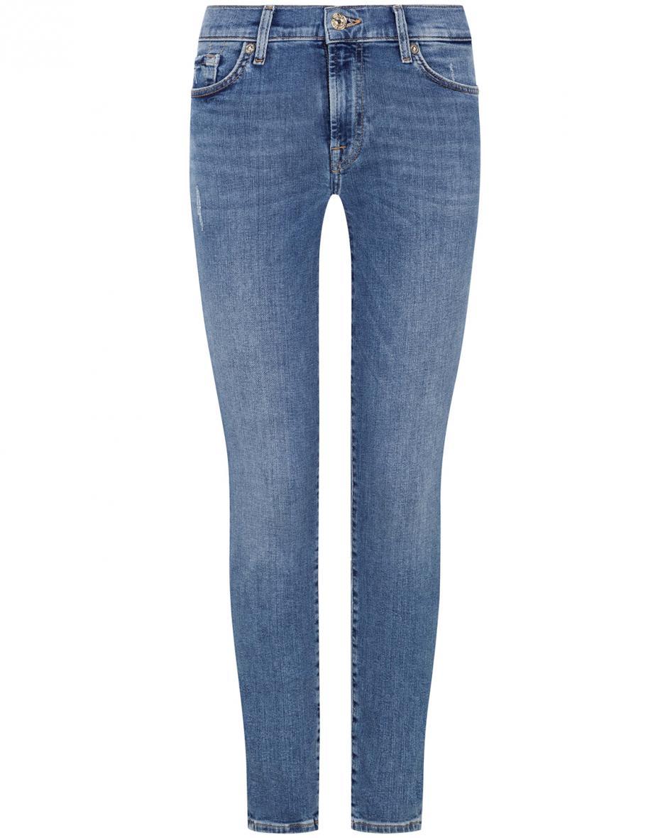 Hosen - 7 For All Mankind The Skinny Crop Jeans Slim Illusion  - Onlineshop Lodenfrey