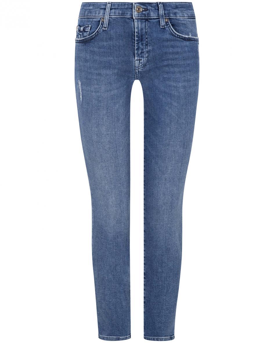Hosen - 7 For All Mankind Pyper 7–8 Jeans Slim Illusion Crop  - Onlineshop Lodenfrey