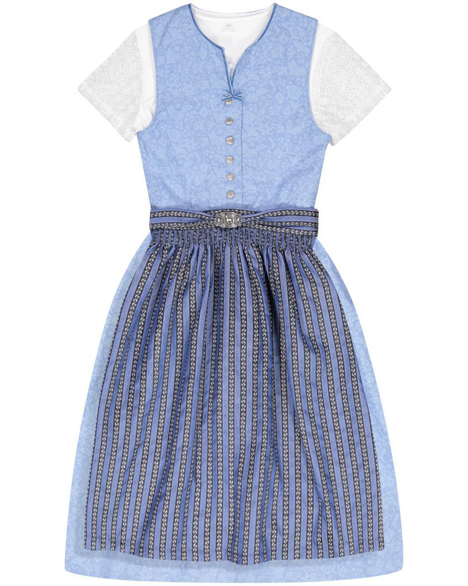 Clarisa Mädchen-Dirndl mit Bluse und Schürze  116