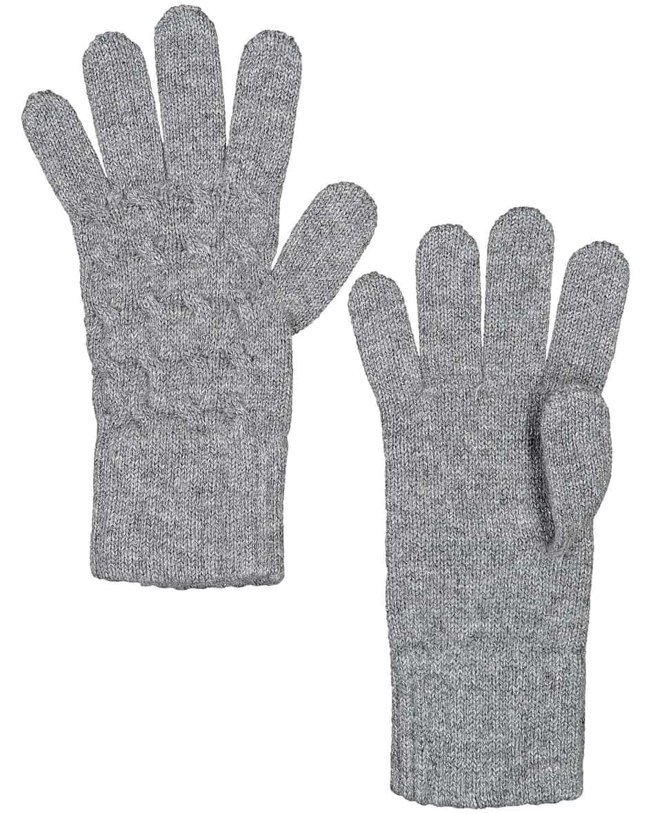 Cable Cashmere-Handschuhe  Unisize