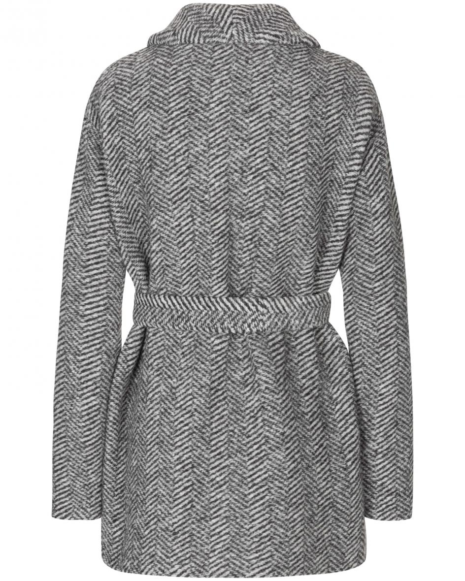 W's Woolen Belted Mantel S