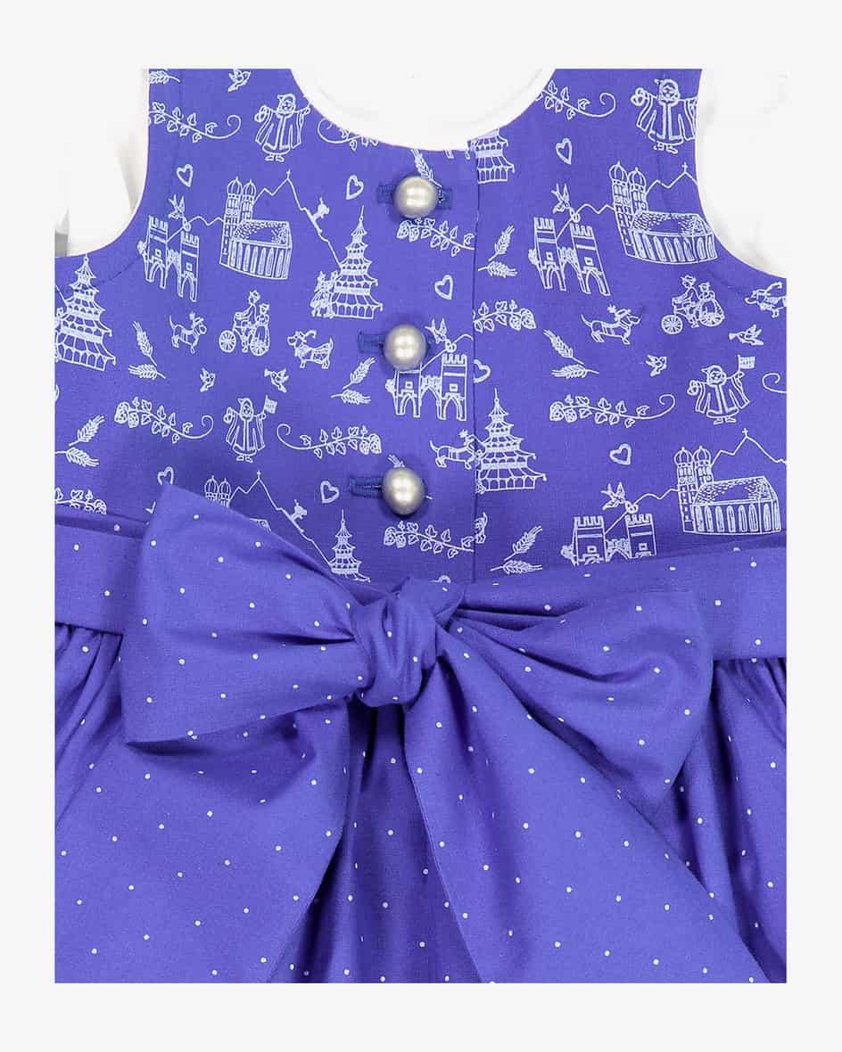 Mädchen-Dirndl mit Bluse und Schürze 104