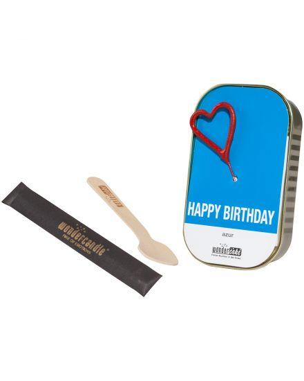 wondercandle happy birthday r hrkuchen mit vollmilchschokotropfen 52 g lodenfrey. Black Bedroom Furniture Sets. Home Design Ideas