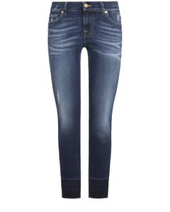 Mid Rise Roxanne Crop Unrolled Jeans von 7 For All Mankind