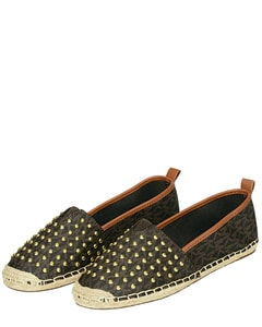 Meg Studded Slip-On Espadrilles
