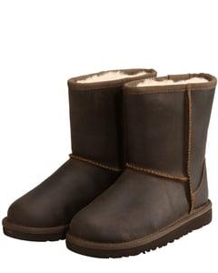 Classic Short Leather Mädchen-Boots von Ugg