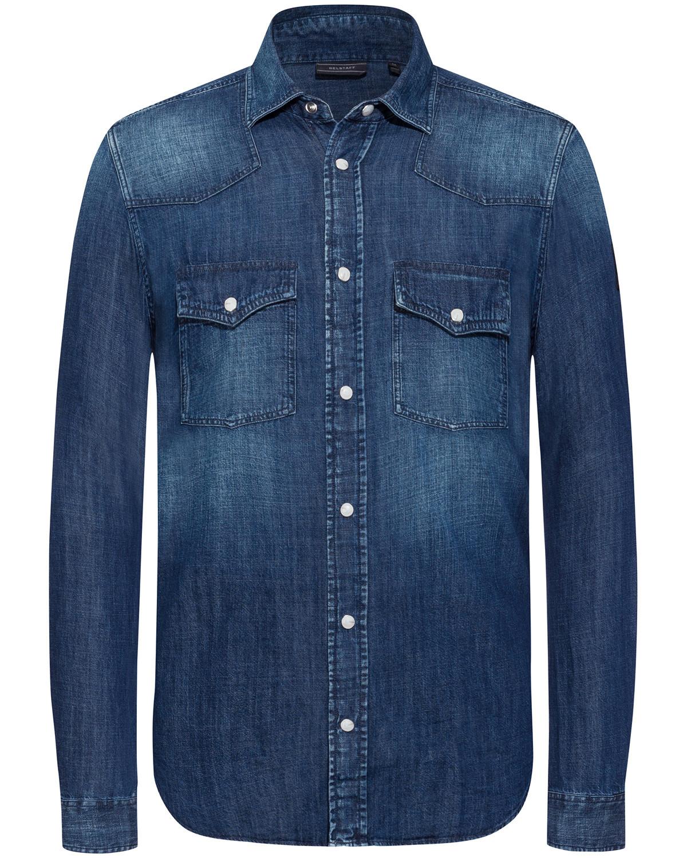 Belstaff jeanshemd lodenfrey for Jeanshemd lang