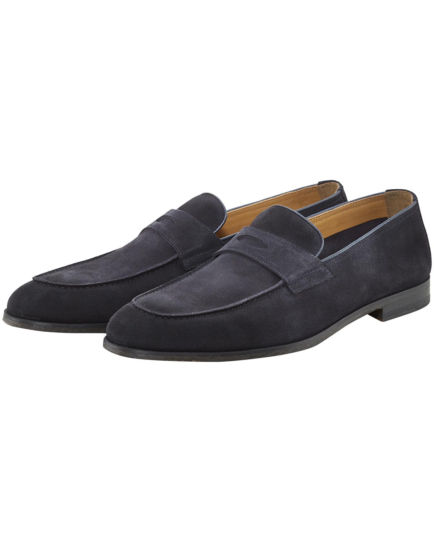 Artikel klicken und genauer betrachten! - Bokeh Loafer für Herren von Doucals in Navy. Das Modell präsentiert sich inmaskulin zeitloser Aufmachung, während das hochwertige Veloursleder den.... Mehr Details bei Lodenfrey.com!   im Online Shop kaufen