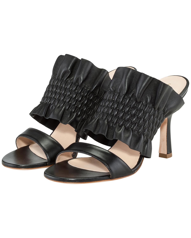 Artikel klicken und genauer betrachten! - Sandaletten für Damen von Unützer in Schwarz. Handmade in Italy - Dank desinliegenden, elastischen Einsatzes erhält der breite Riegel eine.... Mehr Details bei Lodenfrey.com! | im Online Shop kaufen