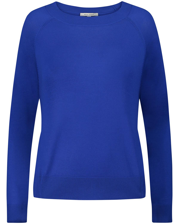 Artikel klicken und genauer betrachten! - Pullover für Damen von Rena Marx in Royal. Das fein gestrickte Modell überzeugtmit hochwertiger Woll-Qualität, während klassische Details das Basic.... Mehr Details bei Lodenfrey.com! | im Online Shop kaufen