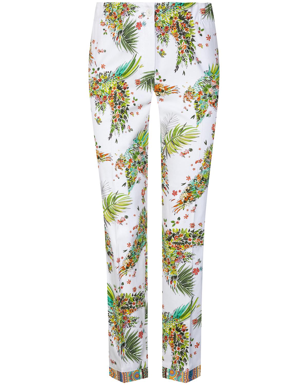 Artikel klicken und genauer betrachten! - 7/8-Hose für Damen von Riani in Weiß und Bunt. Dank elastischer Baumwoll-Qualität sorgt das Modell für angenehmen Tragekomfort, während das.... Mehr Details bei Lodenfrey.com!   im Online Shop kaufen