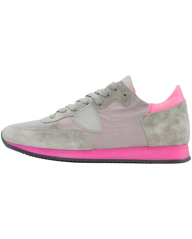 Philippe Model Damen Tropez Sneaker Weiß Gummisohle 00623145