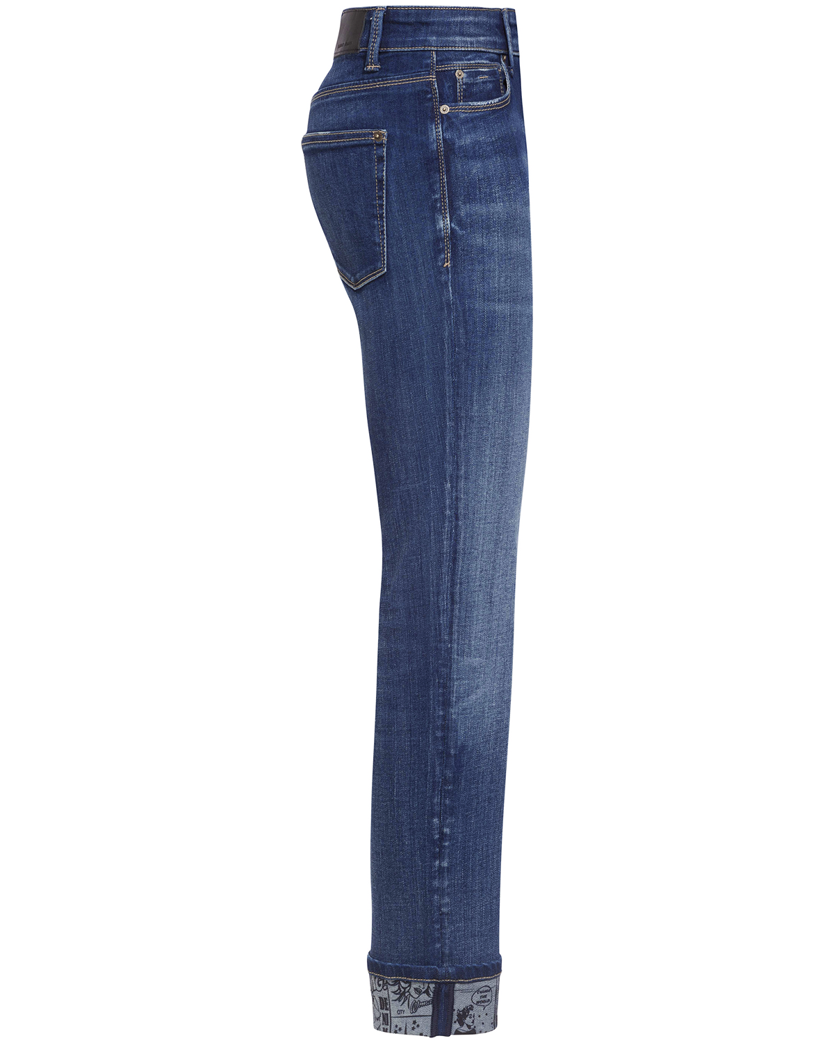 Pina 7 8 Jeans Mid Rise Straight Shot